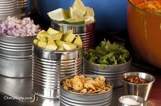 set up a self-serve chili bar for your next wintertime gathering - Love this idea
