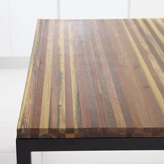 Shop Reclaimed Wood Top/ Natural Dark Steel Base Parsons Dining Tables.  You've designed your ideal table, from top to bottom in just the right size.