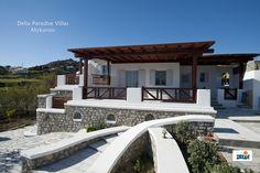 Βίλλα ατόμων στο Paradise, Mykonos Mykonos, Pergola, Villa, Outdoor Structures, Mansions, House Styles, Home Decor, Decoration Home, Manor Houses