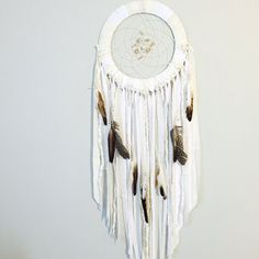 Hey, I found this really awesome Etsy listing at https://www.etsy.com/listing/464261503/white-dreamcatcher-boho-chic