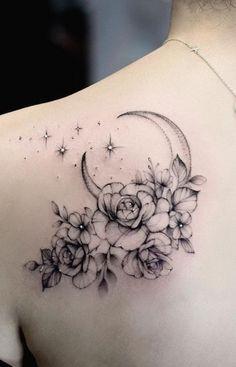 Tattoo Femeninos, Tattoo Mond, Tattoo Dotwork, Unalome Tattoo, Poke Tattoo, Back Tattoo, Tattoo Drawings, Tattoo Sketches, Tattoo Forearm