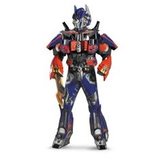 Deluxe Transformers 3 Dark Of The Moon Movie - Optimus Prime 3D Theatrical W/ Vacuform Adult Halloween Costume
