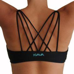 b25a5f8ae4 Black Dynamic Bra -  38.00 www.KIAVAclothing.com Yoga Fashion