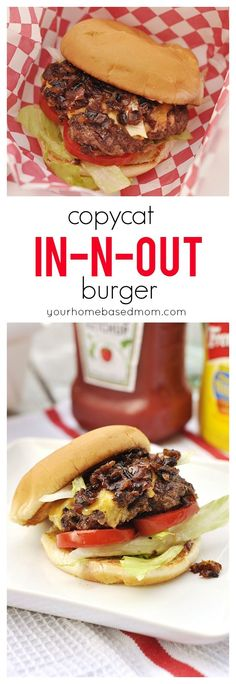 Copycat In-n-Out Burger is so easy to make at home and we think they are better than the real thing! @yourhomebasedmom.com