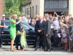 Queen Maxima of The Netherlands attends the official opening of the new nursing center 's Hamrik in Nieuwolda, The Netherlands on July 7, 2015. (T Hamrik', focuses on small scale and domestic housing with self-reliance residents and family care.)