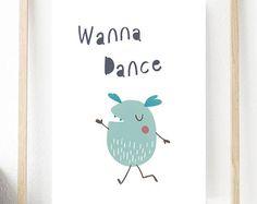 Cute Monster Illustration,Digital Art,Art Print, Printable Nursery Art,Home  Decor,Happy Little Monster Print,Gifts For Children,Wall Art | Pinterest ...