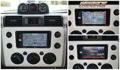 Toyota FJ Cruiser goes offroad with Hema 4wd Mapping! We've replaced the factory head unit with a Zenec ZE-NC620D sat nav system with integrated HEMA 4WD Nav mapping. Fits perfectly in the dash without any modifications and retains factory steering wheel controls.