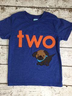 New lil threadz design posted! Puppy party Dog Birthday shirt Customize colors boy's birthday shirt children's tee puppy decor puppy invite puppy birthday party by lilthreadzclothing