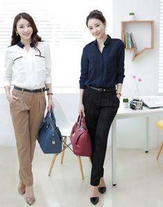 ea49c97219c Charm New Fashion OL Loose Blouses Plus Size M-2XL Formal Business Wear Slim  Women