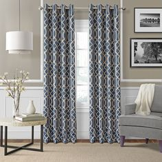 Elrene Home Fashions 026865853711 Blackout Room Darkening Grommet Window Curtain Drape Panel, 52' x 95', Indigo * You can find more details by visiting the image link-affiliate link. #WindowTreatments