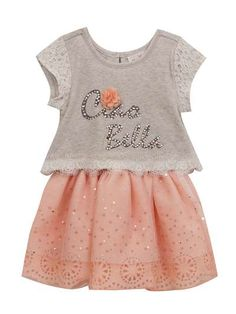 Take a look at this Gray & Peach 'Ciao Bella' Tutu Dress - Girls today! Girly Outfits, Cute Outfits, Affordable Dresses, White Sandals, Girls 4, Girls Dresses, Peach, How To Wear, Gray