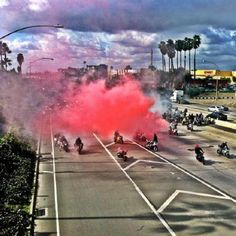 Bikers who brought freeway traffic to standstill for marriage proposal being investigated by L.A. police #pink #news #wedding