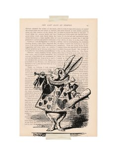 vintage dictionary art book page print ALICE by ExLibrisJournals, $9.00