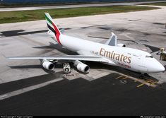Emirates Fleet, Emirates Airline, Atlas Air, Willemstad, Boeing 747, Aviation, Aircraft, Air Photo, Apron