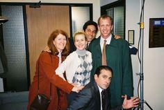 Meredith, Oscar, Angela, Toby, and Michael | office mates | Scranton branch