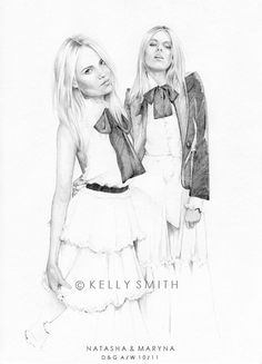 Kelly Smith has such cool fashion drawings... sometimes weird, but mostly cool...