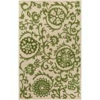 Rhodes Maggie Kelly Green 9 ft. x 13 ft. Indoor Area Rug