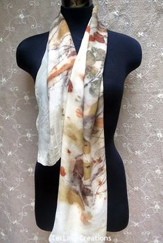 Terrie ~.~ smiling.....: Eco printed autumn themed scarfs 秋意盎然植物印染絲巾