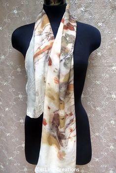 terriekwong : Eco printed autumn themed scarfs