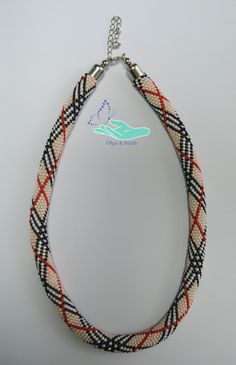 """https://www.facebook.com/olgabeads/The wiring of beads """"burberry""""."""