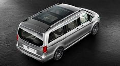 Mercedes-Benz V-Class The concept car is dressed in a designo titanium alubeam effect paint finish which further highlights the vehicle's dynamic styling.