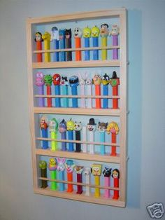 MEDIUM PEZ DISPLAY shelf Holds 44 dispensers by JTNSProducts, $26.00