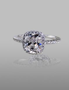 Buy Vancaro Women's Fashion Rings CT Cushion Cut Cubic Zirconia 925 Sterling Silver Plated Platinum CZ Ring Engagement Ring at Wish - Shopping Made Fun Wedding Rings Solitaire, Morganite Engagement, Silver Engagement Rings, Bridal Rings, Cubic Zirconia Engagement Rings, Ring Engagement, Cubic Zirconia Rings, Modern Jewelry, Fine Jewelry