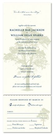 Recycled Paper Invitations ~ Solid Oak recycled paper), This intricate, artistic rendering of a beautiful oak tree adds a visually engaging element to this classic, nature-inspired wedding stationery. Oak Tree Wedding, Woodsy Wedding, Gala Invitation, Invitation Paper, Tree Wedding Invitations, Wedding Stationery, Popular Tree, Nature Inspired Wedding, Solid Oak