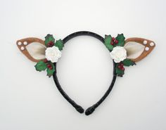 NEW Christmas Deer Headband-Christmas by DesignsbyGitana on Etsy