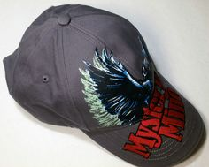 Dollywood Mystery Mine Cap Black Raven Navy Blue 100% Cotton Adjustable Strap