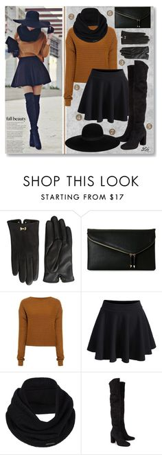 """""""Color Trend - Caramel"""" by breathing-style ❤ liked on Polyvore featuring Stuart Weitzman, Ted Baker, Urban Expressions, TIBI, WithChic, prAna, Yves Saint Laurent and Maison Michel"""
