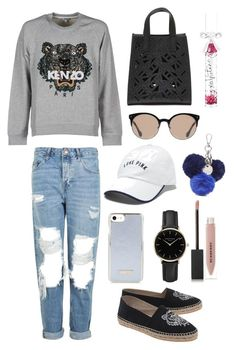 """Untitled #8"" by natashazein on Polyvore featuring Kenzo, Topshop, Nine West, Balenciaga, Victoria's Secret, ROSEFIELD and Burberry"