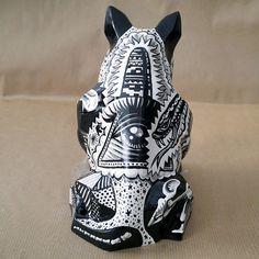 Sculpture Tattooed Mexican Bull Terrier Dia De Los от PSIAKREW