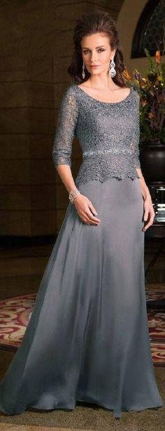 261 vestido para mae da noiva longo prata