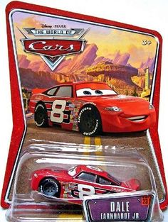 Disney / Pixar CARS Movie 155 Die Cast Car Series 3 World of Cars Dale Earnhardt Jr. by Mattel. $18.97. Dale Earnhardt Jr #8 Disney Pixar World Of Cars Background Card Edition 1:55 Scale Mattel. These diecast cars are smokin hot!Collect your favorites from the cast of CARS with these approximately 155 scale (Hot Wheels size) diecast actionsized vehicles! Collectors are scooping these up and some are getting very hard to find! Lock in now!