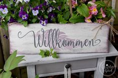 Willkommen 9 Home Decor, Timber Wood, Garden Cottage, Crafting, Decoration Home, Room Decor, Home Interior Design, Home Decoration, Interior Design