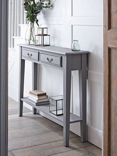 Console Tables, Small & Narrow Hallway Console Tables with Storage UK hallway decorating halls ideas paint hallway ideas ideas small ideas entrance House Interior, Furniture, Small Spaces, Home, Small Hallways, Hall Table Decor, Console Table Hallway, Hallway Furniture, Home Decor