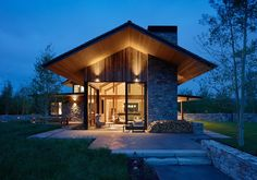 Private Residence in the Mountains, design, décor, interior, USA, Wyoming, house, mountains, yard