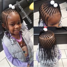 braids for kids with beads Little Girl Braid Styles, Little Girl Braid Hairstyles, Kid Braid Styles, Little Girl Braids, Baby Girl Hairstyles, Black Girl Braids, Kids Braided Hairstyles, African Braids Hairstyles, My Hairstyle