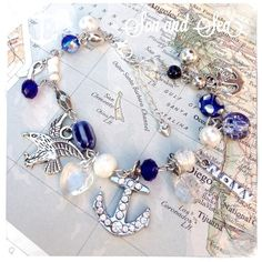 US Navy charm bracelet by Son and Sea  free US by sonandsea, $26.00