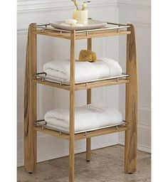 Teak Wood Shower Shelf Organizer Bath Stool Bench