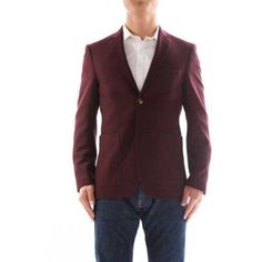 Verno Armati Men's Burgandy Slim Fit Italian Styled Wool Blazer, Size: 44S, Red