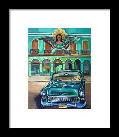 Cuba Framed Print featuring the painting Cuba by Carmen Stanescu Kutzelnig Hanging Wire, Cuba, Fine Art America, Framed Prints, Painting, Paintings, Draw, Kobe, Drawings