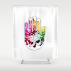 Zen Ohm Hamsa Colorful Flower #2 Shower Curtains  Society6 | Lisaliza.  #bathroom #bath #products #showercurtains #shower  #Modern #Classy #presents #Buyart  #yoga #mandala #symbol #zen #namaste #ohm #meditation   #peace #trending #buddhism #calm #spirit #mind #fitness #vegan #hamsa#Society6#Lisaliza #Floral