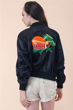 In-N-Out Embroidered Satin Jacket