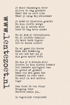 Gedichtjes | Lentezoet.nl