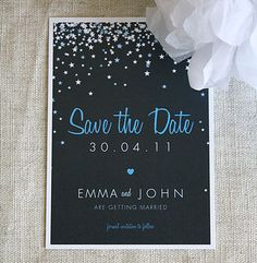 Bella Save The Date Invitation by Project Pretty, the perfect gift for Explore more unique gifts in our curated marketplace. Wedding 2017, Star Wedding, Dream Wedding, Wedding Day, Galaxy Wedding, Luxury Wedding, Save The Date Invitations, Invitation Cards, Wedding Invitations
