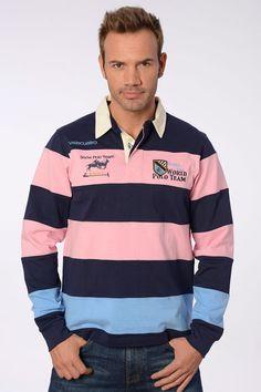 Valecuatro polo rugby bandas rosa