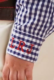LOVE!!!  Monogram boys shirt