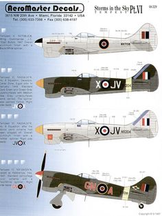 V JV-X 6 Sqn Deversoir, Egypt 2 versions, camouflaged and overall silver; GN-A Habbaniya, Iraq JCB Zipp XII Wing Co J.Button overall silver Ww2 Aircraft, Military Aircraft, Hawker Tempest, Hawker Typhoon, Hawker Hurricane, Aircraft Painting, Ww2 Planes, Nose Art, Aviation Art